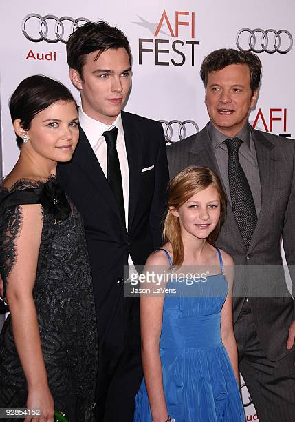 """Ginnifer Goodwin, Nicholas Hoult, Ryan Simpkins and Colin Firth attend the AFI Fest 2009 premiere of """"A Single Man"""" at Grauman's Chinese Theatre on..."""
