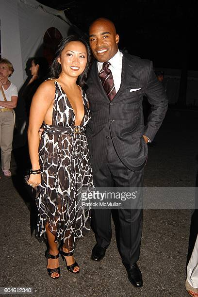Ginny Barber and Tiki Barber attend The Fresh Air Fund Spring Gala honoring American Heroes at Tavern On the Green on June 1 2006 in New York City