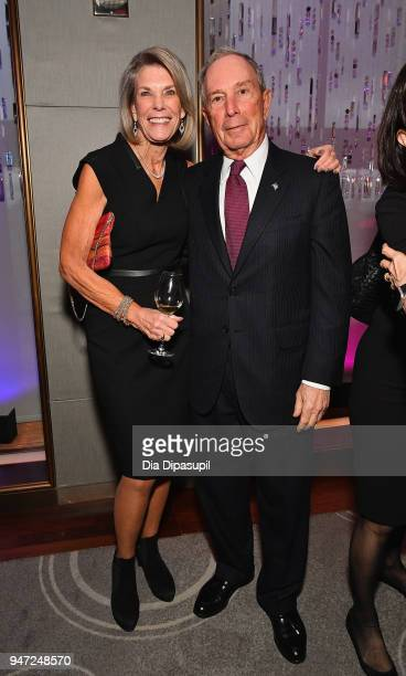 Ginny Clark and Michael Bloomberg attend the Lincoln Center Alternative Investment Industry Gala on April 16 2018 at The Rainbow Room in New York City