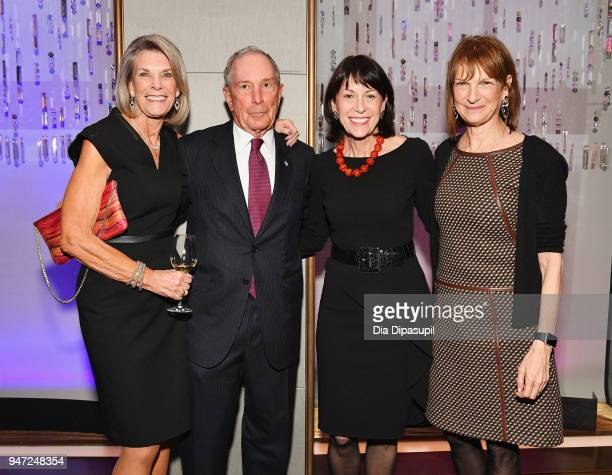 Ginny Clark Michael Bloomberg Katherine Farlet and Patricia E Harris attend the Lincoln Center Alternative Investment Industry Gala on April 16 2018...