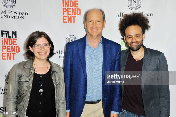Ginny Mohler Vice President of the Alfred P Sloan Foundation Doron Weber and Shawn Snyder attend Sloan Film Summit 2017 Day 3 on October 29 2017 in...