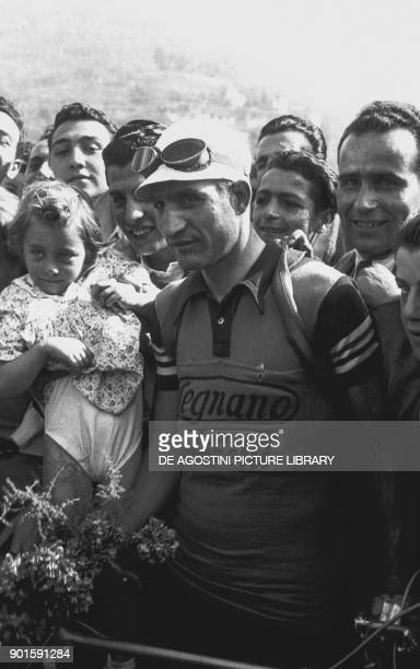 Gino Bartali before starting the 3rd stage of Giro d'Italia May 26 Genoa Italy 20th century
