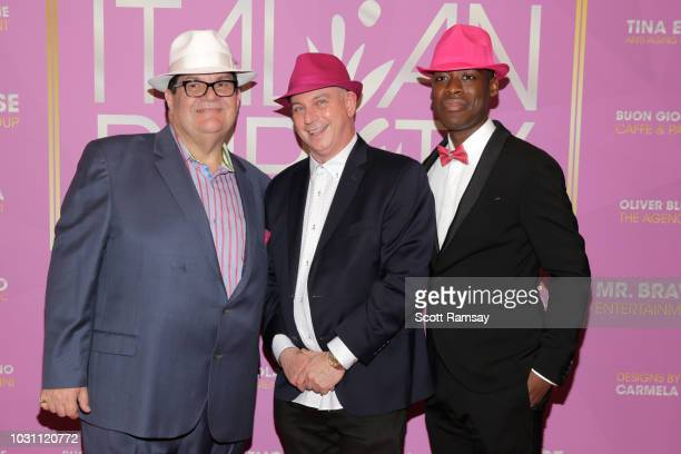 Gino Bravo Rich Wolff and Jaze Bordeaux attend The Italian Party during 2018 Toronto International Film Festival celebrating Excelsis movie at...