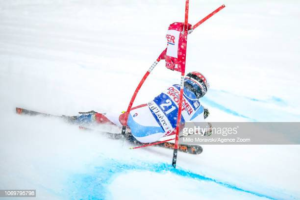Gino Caviezel of Switzerland during the Audi FIS Alpine Ski World Cup Men's Giant Slalom on December 8 2018 in Val d'Isère France