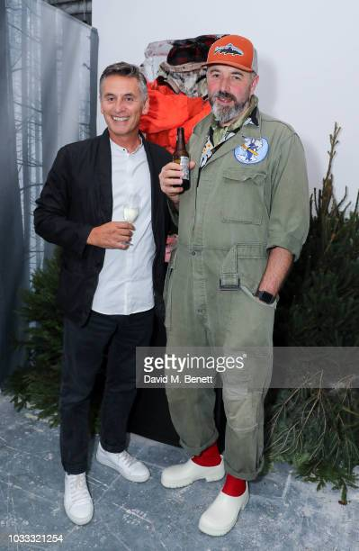 Gino Da Prato and Jeff Griffin attend the Griffin X Woolrich capsule collection launch presented by Highsnobiety during London Fashion Week September...