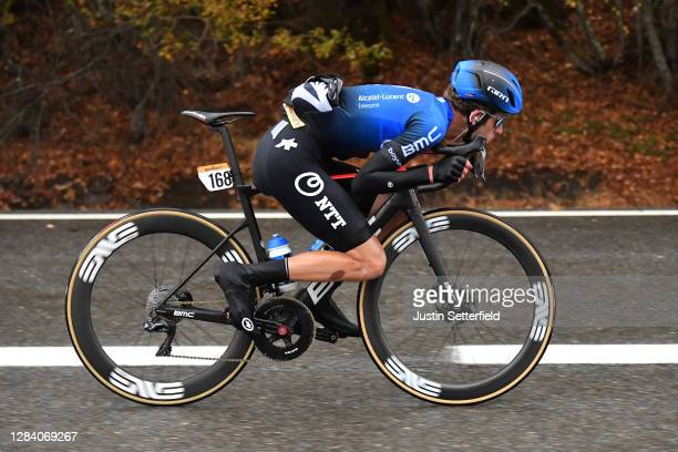 Gino Mader of Switzerland and NTT Pro Cycling Team / Breakaway / during the 75th Tour of Spain 2020, Stage 15 a 230,8km stage from Mos to Puebla de...