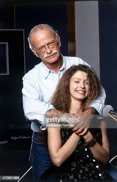 Gino Paoli hugs her daughter Amanda born from the love between the songwriter and actress Stefania Sandrelli with his daughter who is also a talented...