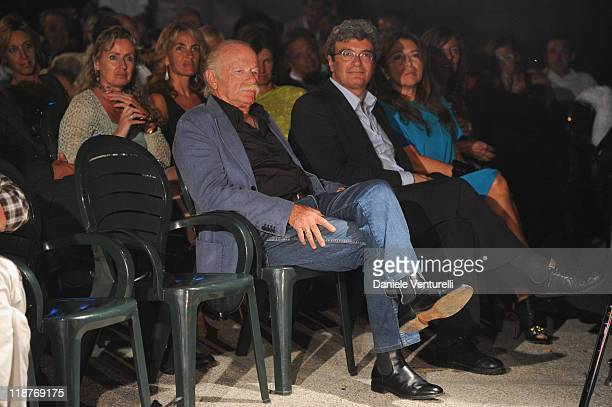 Gino Paoli, Mario Martone and Paola Penzo attend day one of the Ischia Global Film and Music Festival on July 10, 2011 in Ischia, Italy.