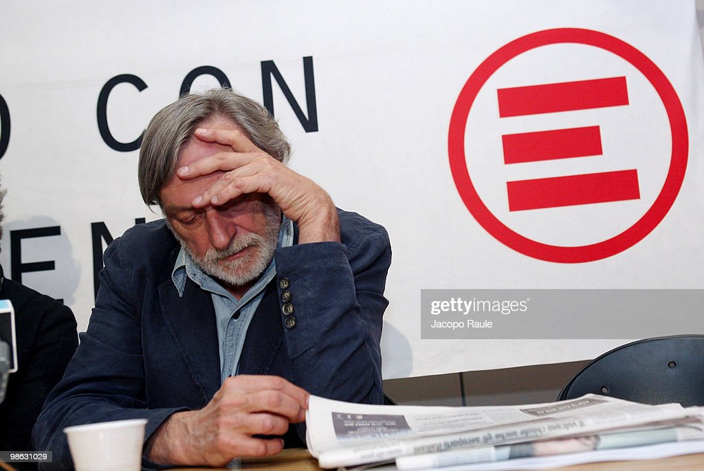 Gino Strada, founder of Italian aid agency Emergency, attends a press conference at the agency's headquarters on April 23, 2010 in Milan, Italy. Matteo Dell'Aira, Marco Garatti and Matteo Pagani, all employees of Emergency, were released after being held for a week by Afghan authorities over an alleged assassination plot against the governor of Helmand province.