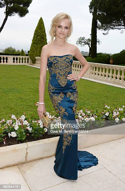 Ginta LapiÀa attends amfAR's 21st Cinema Against AIDS Gala presented by WORLDVIEW BOLD FILMS and BVLGARI at Hotel du CapEdenRoc on May 22 2014 in Cap...