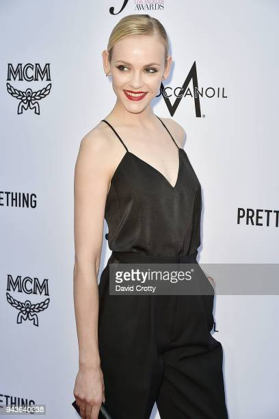 Ginta Lapina attends The Daily Front Row's 4th Annual Fashion Los Angeles Awards Arrivals at The Beverly Hills Hotel on April 8 2018 in Beverly Hills...