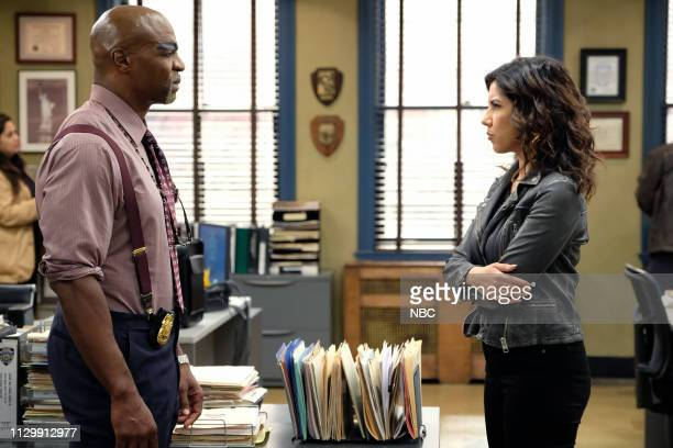 NINE Gintars Episode 611 Pictured Terry Crews as Terry Jeffords Stephanie Beatriz as Rosa Diaz