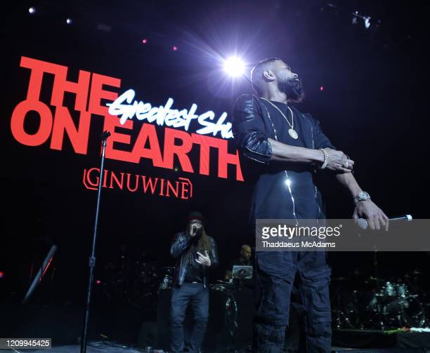 Ginuwine performs as part of the RnB Rewind concert at Bridgestone Arena on February 28 2020 in Nashville Tennessee