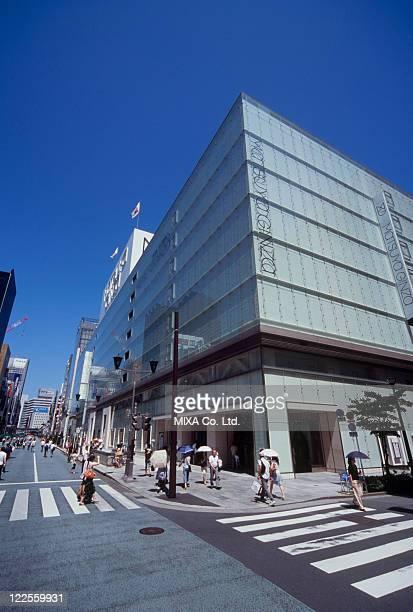 ginza chuo dori, chuo, tokyo, japan - chuo dori street stock photos and pictures