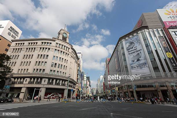 ginza district in tokyo, japan - ginza stock pictures, royalty-free photos & images