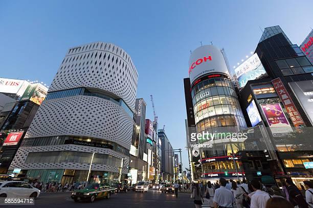 銀座の街東京,日本