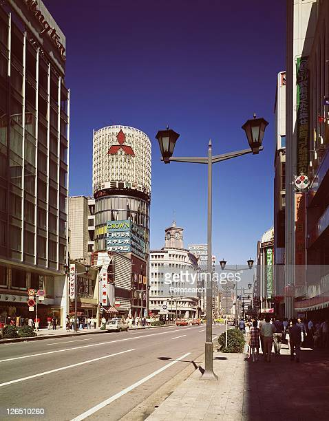 ginza in showa - showa period stock pictures, royalty-free photos & images