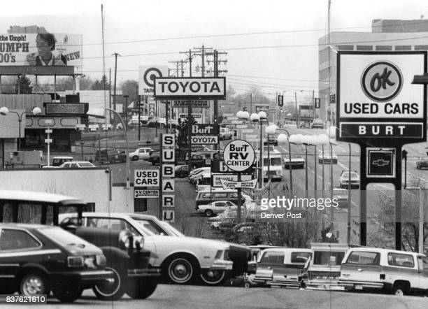 Ginza on Broadway The signs on Broadway near Bellview Avenue in Littleton graphically show the impact Japanese import cars have made Roy Stiny below...