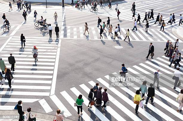 Ginza pedestrian crossing in Tokyo