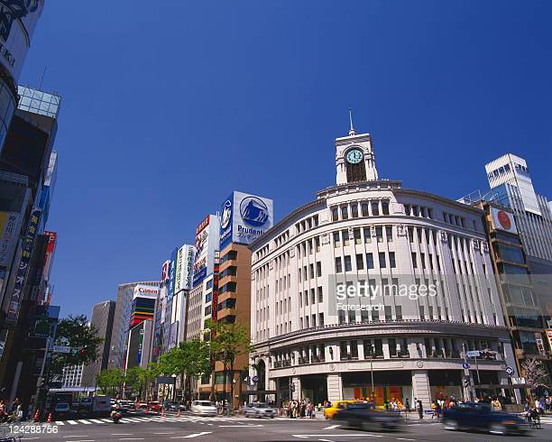 ginza - ginza stock pictures, royalty-free photos & images