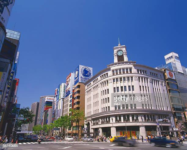 ginza - chuo dori street stock photos and pictures