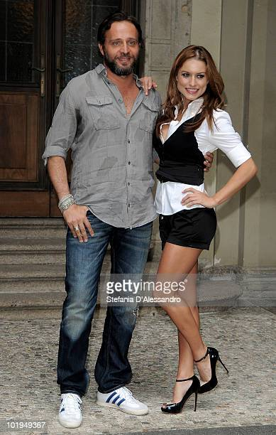 Gio Di Tonno and Lola Ponce attends 'I Promessi Sposi' Press Conference held at Palazzo Marino on June 10, 2010 in Milan, Italy.