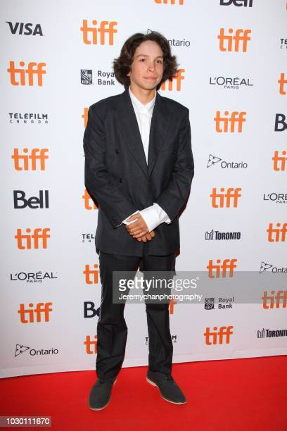 Gio Galicia attends the 'Mid90s' Premiere during 2018 Toronto International Film Festival at Ryerson Theatre on September 9 2018 in Toronto Canada
