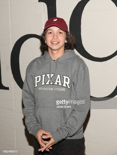 Gio Galicia attends the premiere of A24's Mid90s at West LA Courthouse on October 18 2018 in Los Angeles California