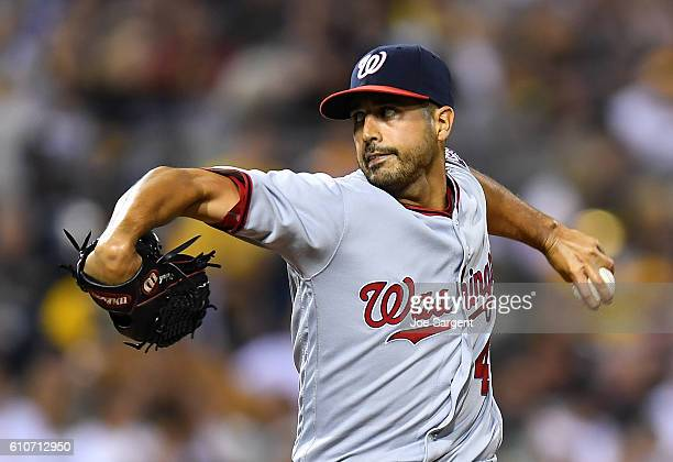 Gio Gonzalez of the Washington Nationals in action during the game against the Pittsburgh Pirates on September 23 2016 at PNC Park in Pittsburgh...