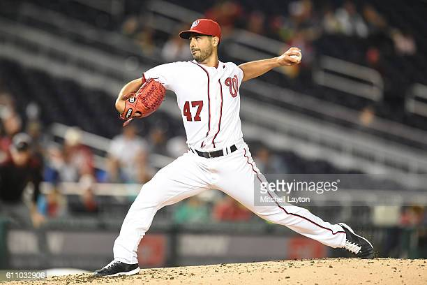 Gio Gonzalez of the Washington Nationals pitches in the second inning during a baseball game against the Arizona Diamondbacks at Nationals Park on...