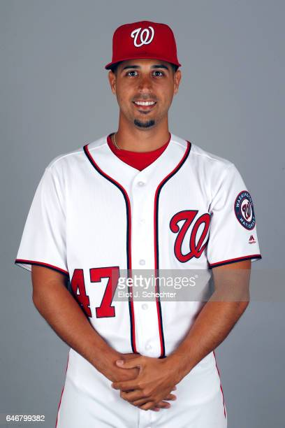 Gio Gonzalez of the Washington Nationals poses during Photo Day on Thursday February 23 2017 at the Ballpark of the Palm Beaches in West Palm Beach...