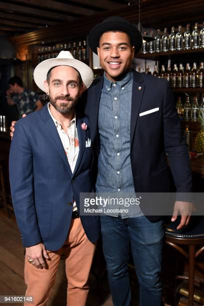Gio Gutierrez and French Scotty Marshall attend an immersive theatrical experience 'Amparo' presented by HAVANA CLUB Rum on April 3 2018 in New York...