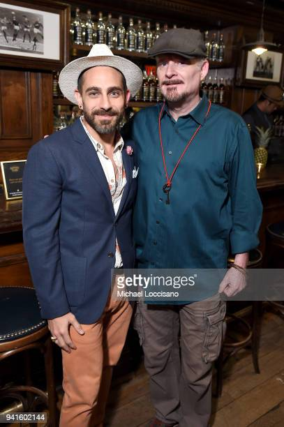 Gio Gutierrez and T J English attend an immersive theatrical experience 'Amparo' presented by HAVANA CLUB Rum on April 3 2018 in New York City