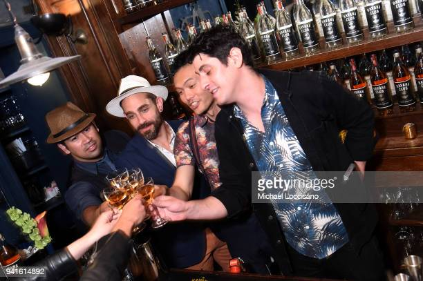 Gio Gutierrez and the bartenders attend an immersive theatrical experience 'Amparo' presented by HAVANA CLUB Rum on April 3 2018 in New York City