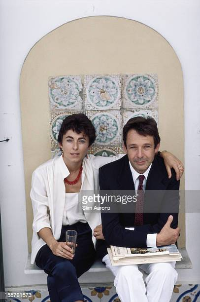 Gioacchino Lanza Tomasi di Lampedusa Duke of Palma and his wife Nicoletta pose in Sicily Italy in October 1984