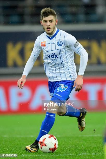 Giogri Chakvetadze midfielder of KAA Gent in action during the Jupiler Pro League match between KAA Gent and Sint Truidense VV at the Ghelamco Arena...