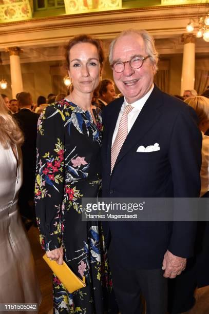 Gioia von Thun and her father Friedrich von Thun attend the Bayerische Fernsehpreis 2019 at Prinzregententheater on May 24 2019 in Munich Germany