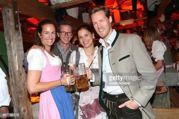 Gioia von Thun Prince Manuel von Bayern Herbert Kloiber jr and his wife Julia Kloiber during the Oktoberfest at Kaefer Schaenke Theresienwiese on...