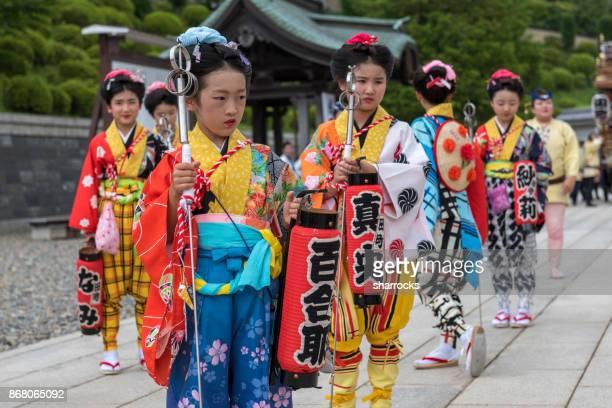 gion-e festival at naritasan shinshoji temple, narita, japan - narita stock photos and pictures