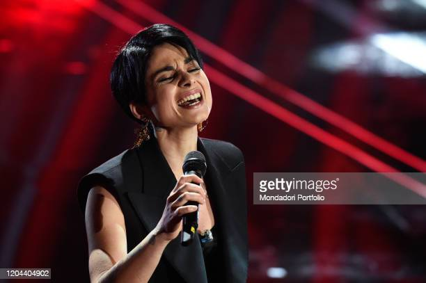 Giordana Angi at the first evening of the 70th Sanremo Music Festival Sanremo February 5th 2020