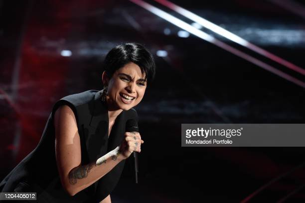 Giordana Angi at the first evening of the 70th Sanremo Music Festival. Sanremo , February 5th, 2020