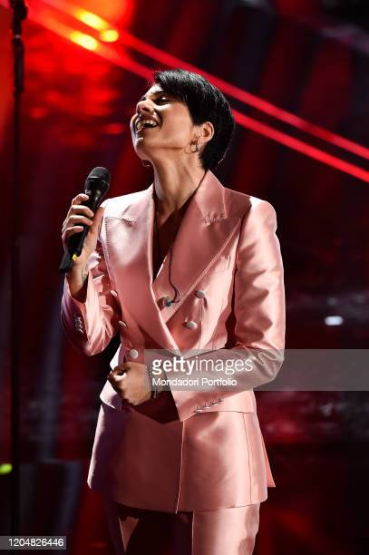 Giordana Angi at the fourth evening of the 70th Sanremo Music Festival on February 07, 2020 in Sanremo, Italy.