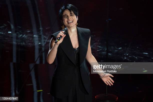 Giordana Angi at the second evening of the 70 Sanremo Music Festival Sanremo February 5th 2020