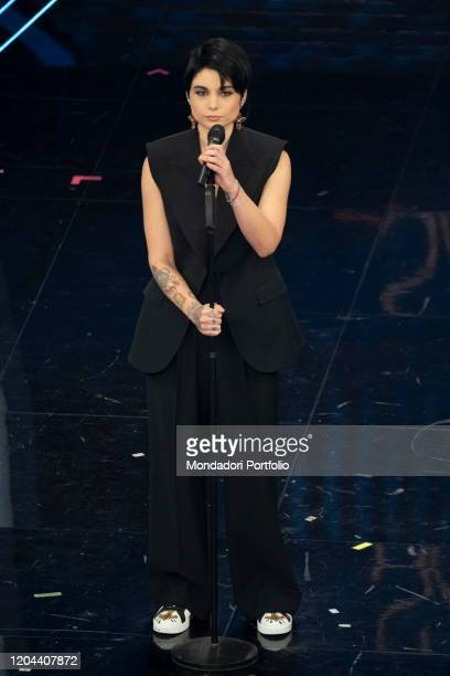 Giordana Angi at the second evening of the 70 Sanremo Music Festival. Sanremo , February 5th, 2020