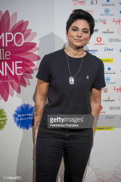 Giordana Angi attends Il Tempo Delle Donne Festival in Milan at Triennale Design Museum on September 14 2019 in Milan Italy