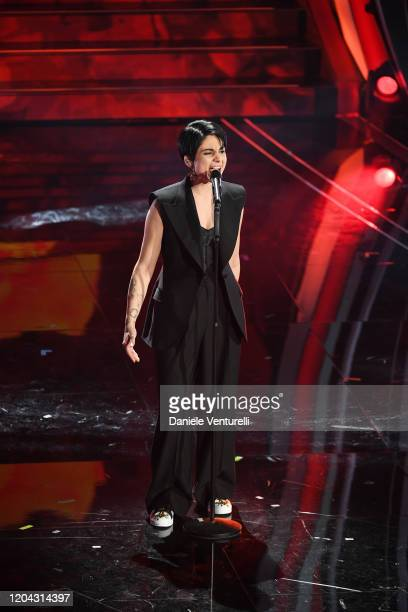 Giordana Angi attends the 70° Festival di Sanremo at Teatro Ariston on February 05 2020 in Sanremo Italy