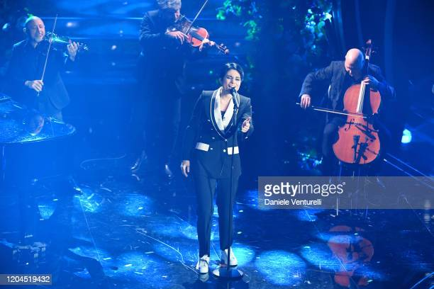 Giordana Angi attends the 70° Festival di Sanremo at Teatro Ariston on February 06 2020 in Sanremo Italy
