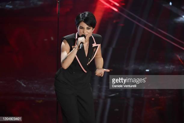 Giordana Angi attends the 70° Festival di Sanremo at Teatro Ariston on February 08 2020 in Sanremo Italy