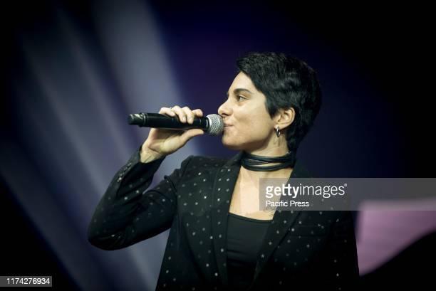Giordana Angi, finalist competitor of Amici 2019 in concert at the Alcatraz in Milan.