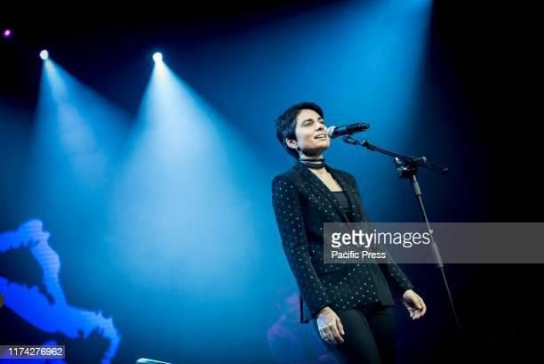 Giordana Angi finalist competitor of Amici 2019 in concert at the Alcatraz in Milan